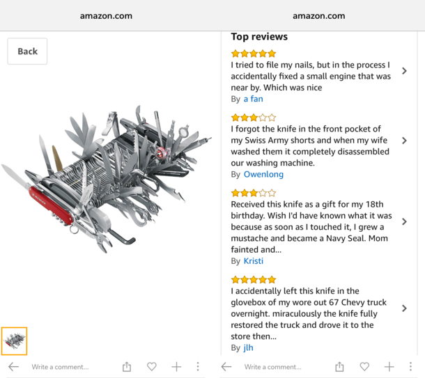 Swiss Army knife reviews are the best