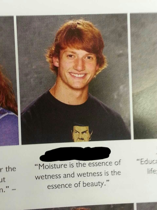 A guys senior quote at my high school   Meme Guy
