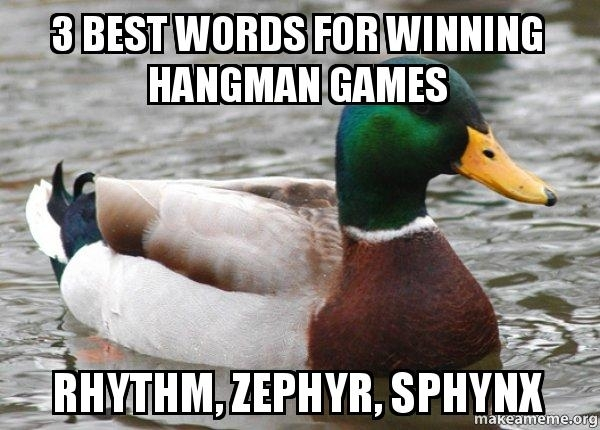 Actual Advice Mallard hangman hack