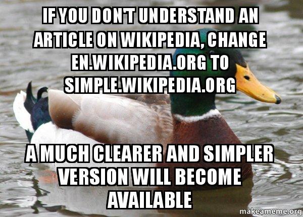 actual advice mallard wikipedia hack meme guy