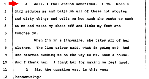 Actual transcript from Donald Sterlings  deposition