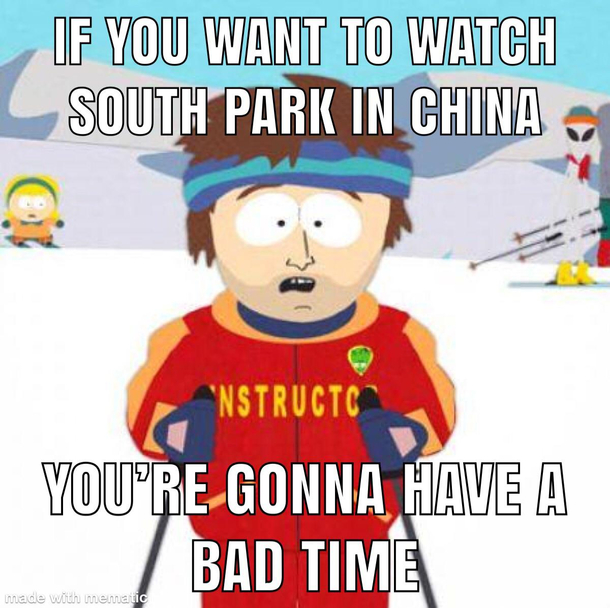 After Band in China episode China scrubs all episodes and discussions about South Park from their internet