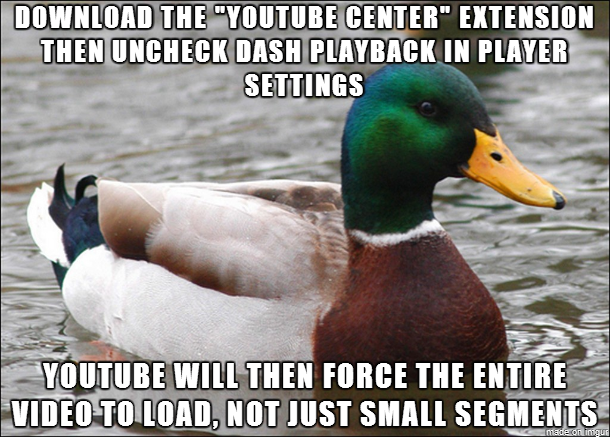 After submitting a post yesterday about YouTube buffering issues a kind anon told me about YouTube Center