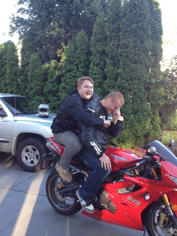 After years of wanting to ride on a motorcycle I finally ... Down Syndrome Meme Funny