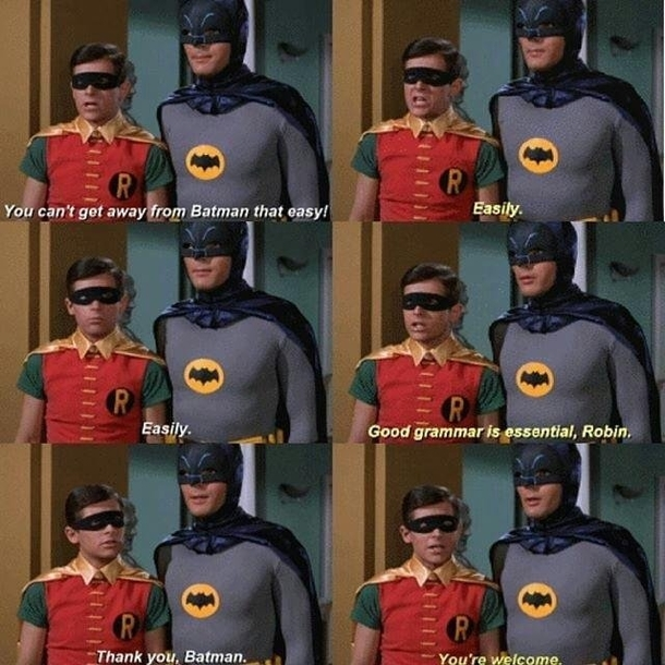 Always time for a life lesson from Batman
