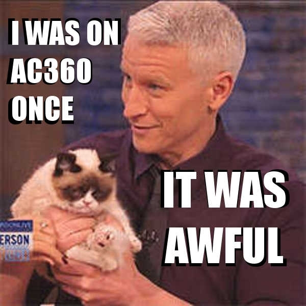 anderson cooper grumpy cat awful 46957 anderson cooper grumpy cat awful meme guy
