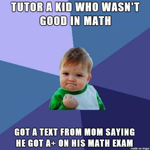 as a teacher in suburban school where students dont give a shit i have a side job where I tutor This made my day