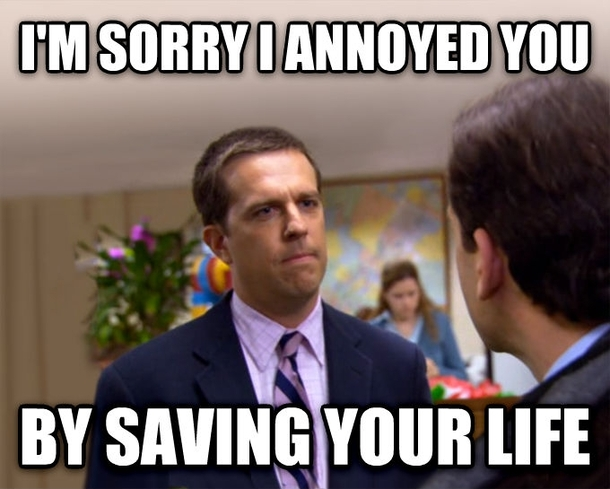 As an EMT this is to the patient who punched me in the ...