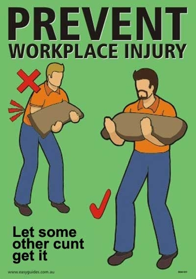Funny Workplace Meme : Australian occupational health and safety meme guy