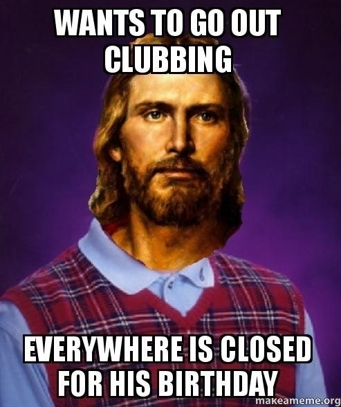Bad Luck Jesus - Meme Guy