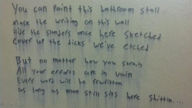 Bathroom Poetry
