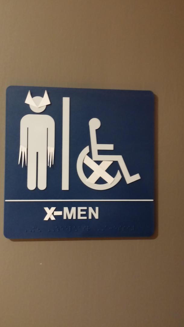 Bathroom Sign Meme bathroom sign at friends work - meme guy