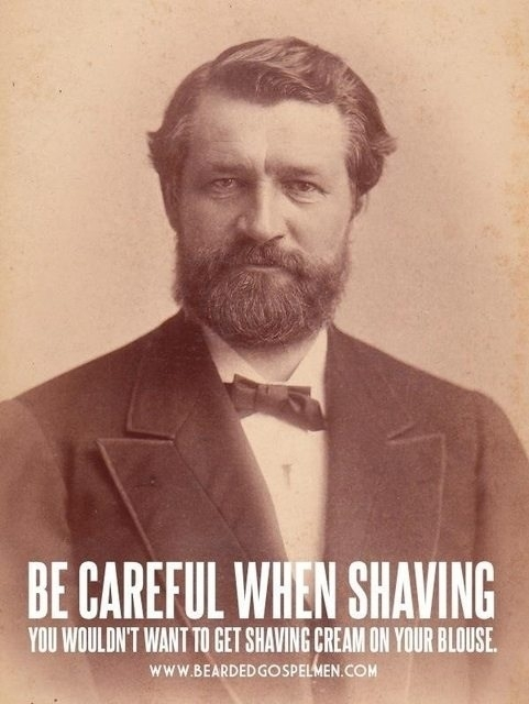 Funny beard shaving meme - photo#3