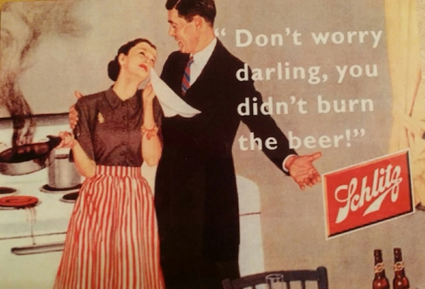 Beer advertisement from