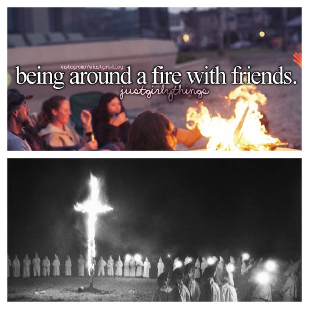 being around a fire with friends meme guy