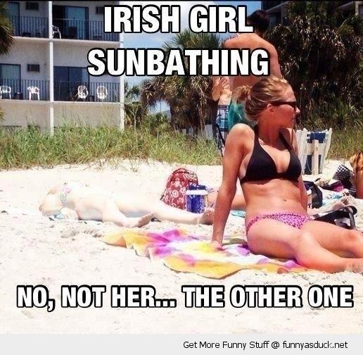 Being Irish At The Beach Meme Guy