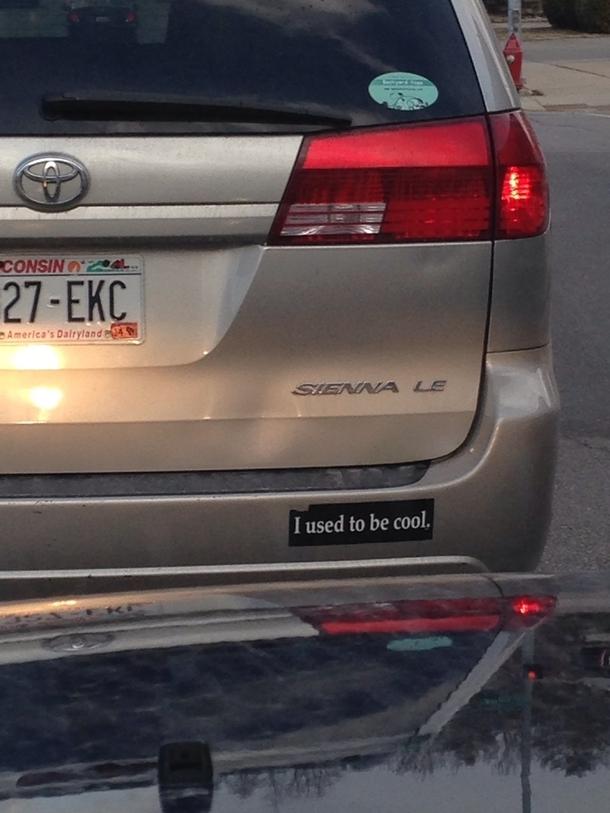 Best bumper sticker for a mini van