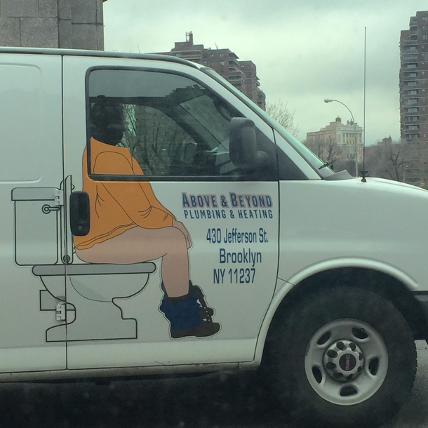 best graphics ever on a company truck meme guy