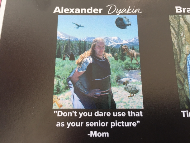 Best senior quote and picture in my yearbook