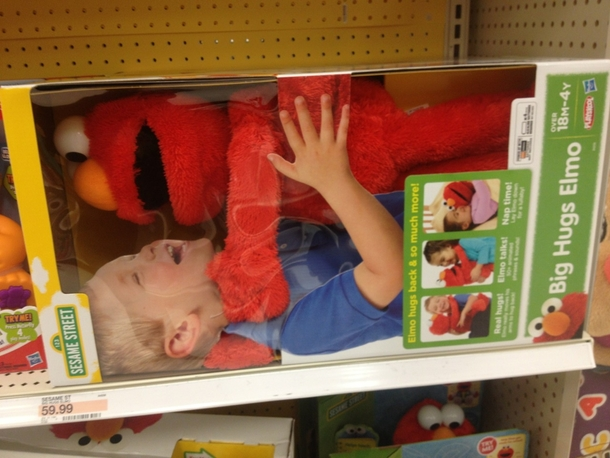 Big Hugs Elmo is tired of your shit
