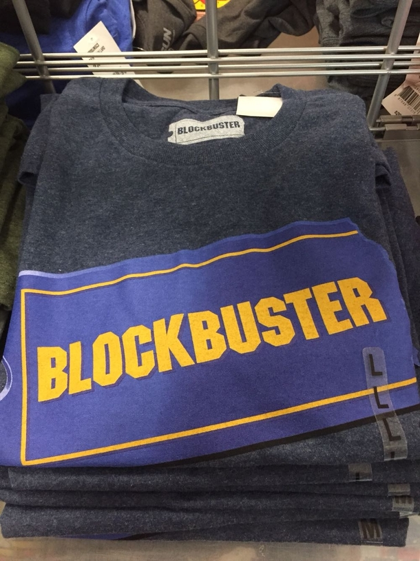 Blockbuster has made it onto vintage tees It is finally at rest