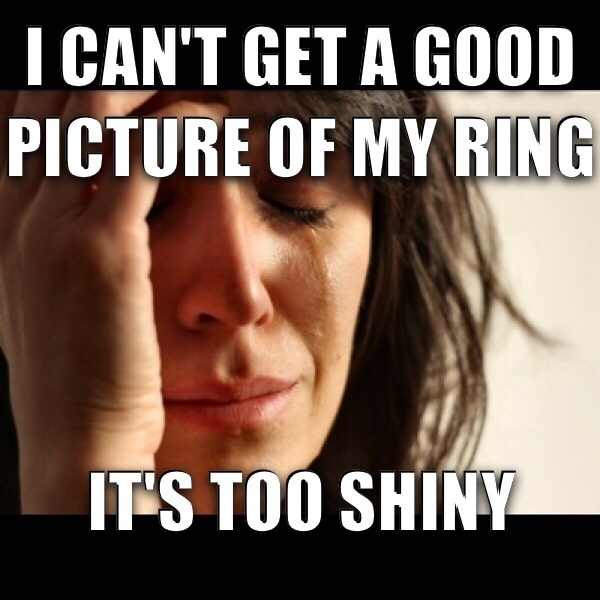 Bought my wife a new wedding ring today and she said this while