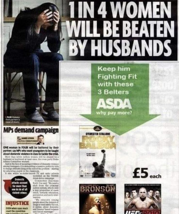 British advert placement at its best