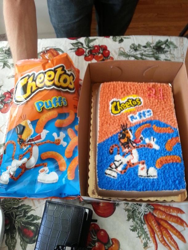 Cheetos Birthday Cake