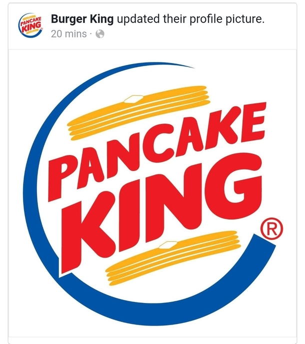 Burger King is roasting IHOP with their new FB profile picture