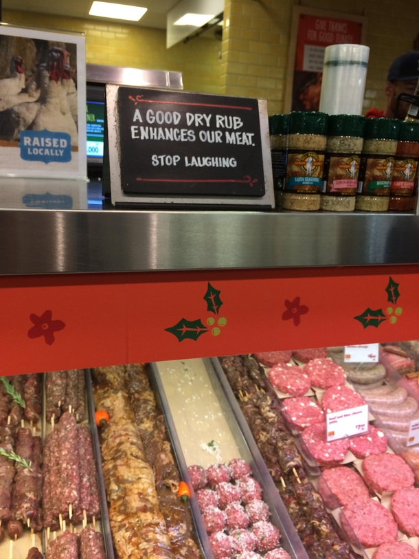 Butchers and their inside jokes