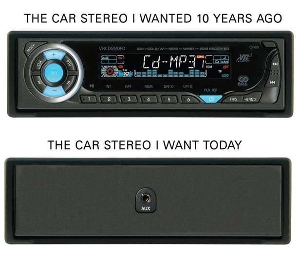 The car stereo I wanted ten years ago and today