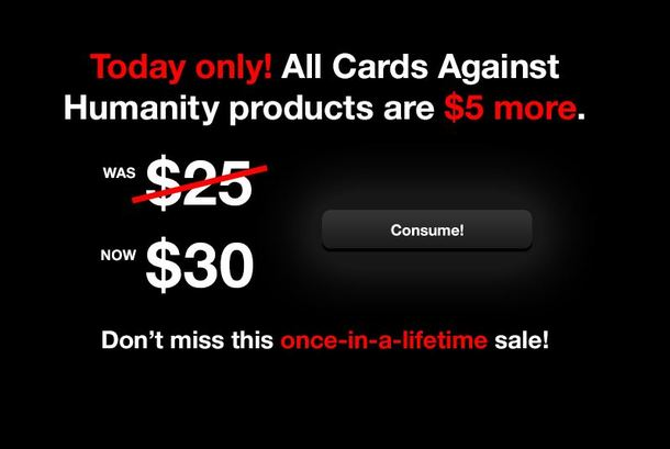 Cards Against Humanity is really going all out with their Black Friday sale
