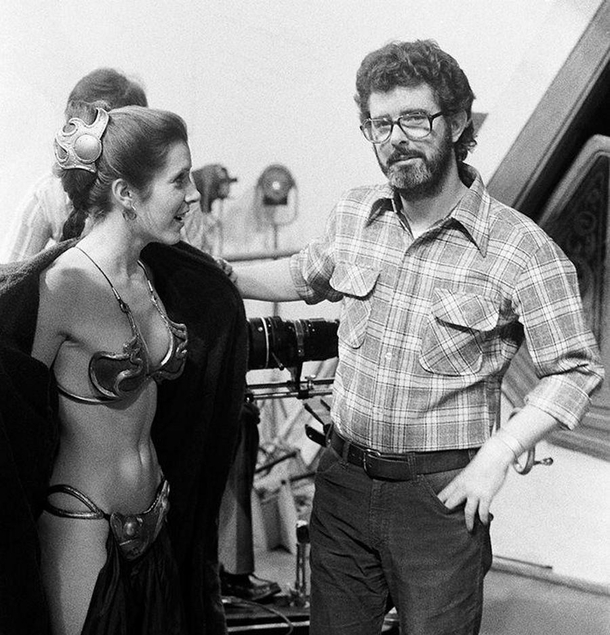 Carrie Fisher fails to get George Lucass attention
