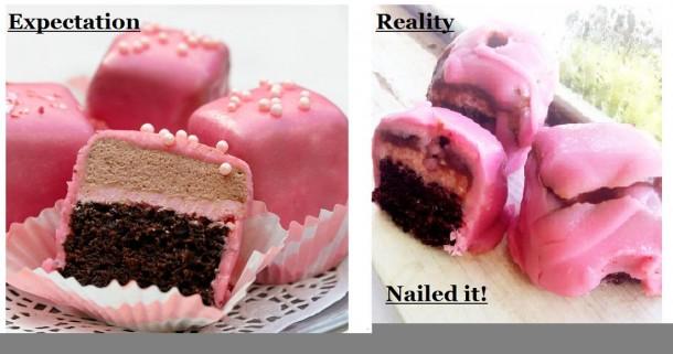Chocolate Pomegranate Petit Fours - Meme Guy