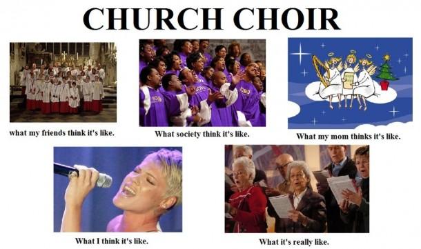 Church Choir Meme Guy