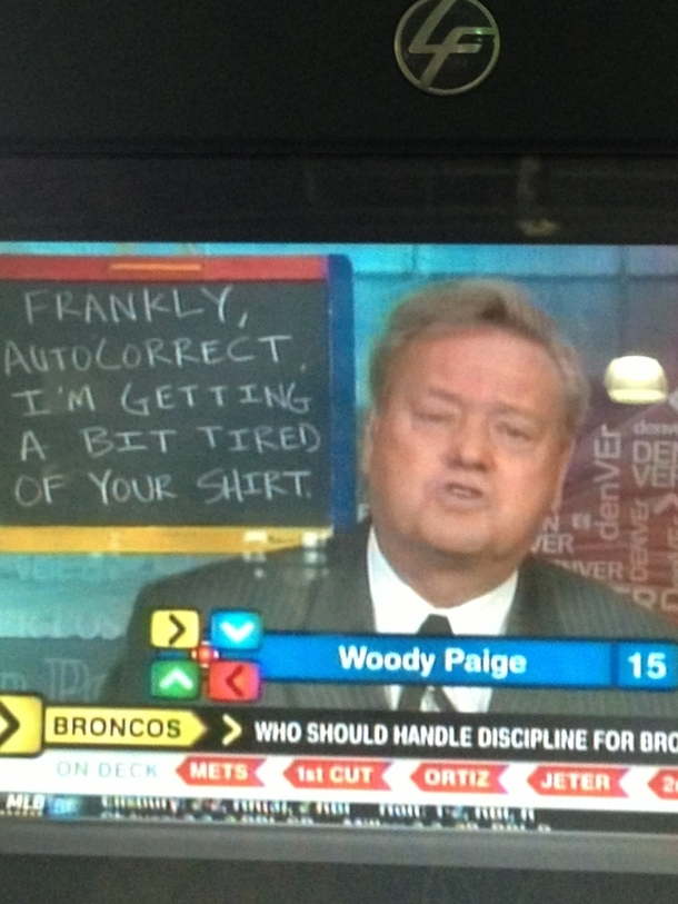 Classic Woody Paige