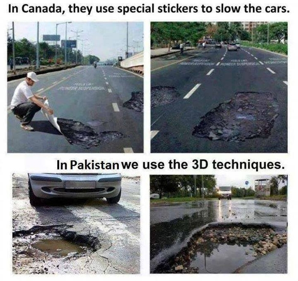 Comparison of D in Canada and in Pakistan