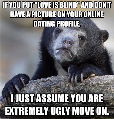 Confession Bear on Online Dating Meme Guy