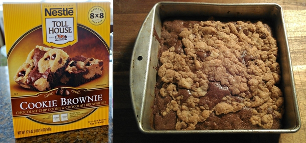Cookie brownie Close enough