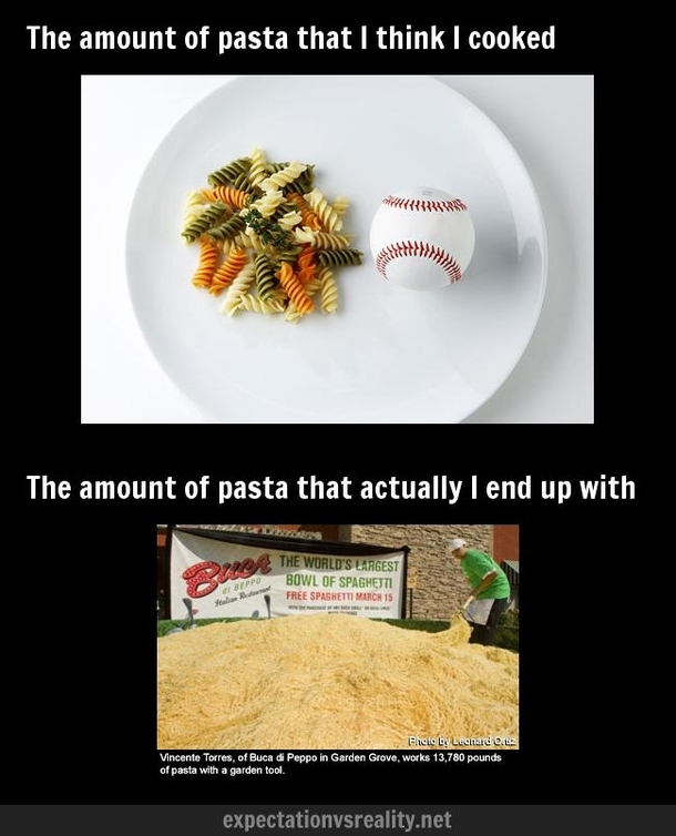 Cooking pasta for dinner - Meme Guy