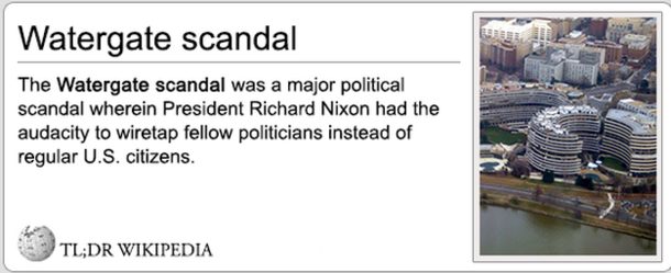 Define Watergate scandal