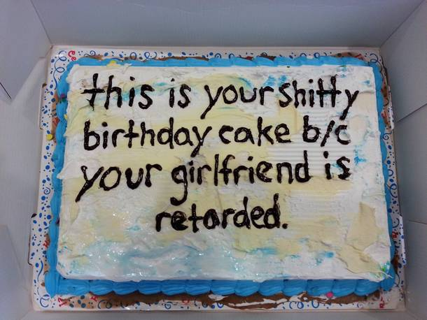 Retarded Birthday Cakes