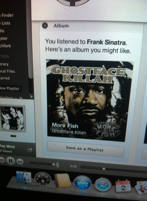Did you ever notice Frank Sinatra and Ghostface Killah sound almost exactly alike