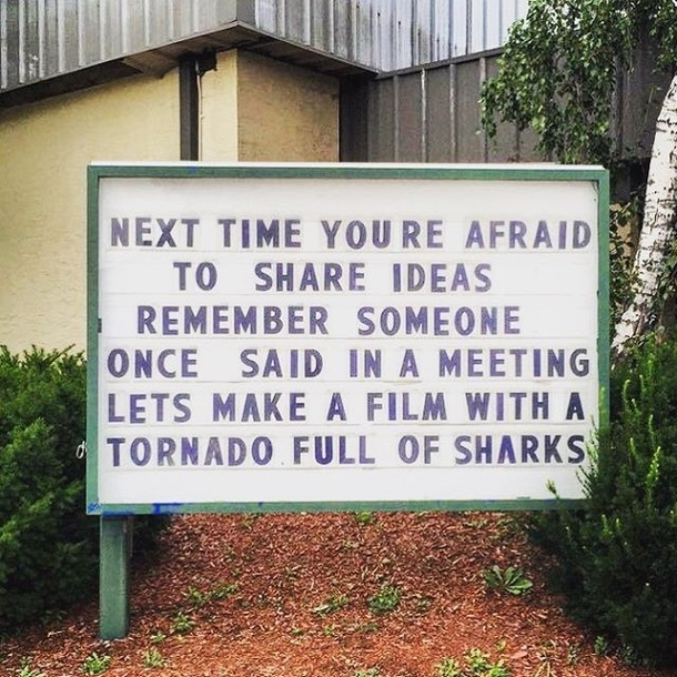 Dont be afraid to share your ideas