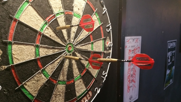 Dont see darts on here much but tonight I pulled off a Robin Hood