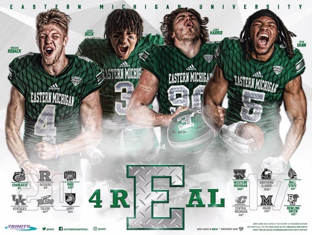 Eastern Michigan Universitys football team press photos all look like they are masturbating