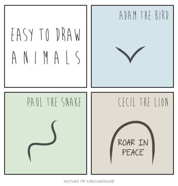 Easy to Draw Animals Meme Guy