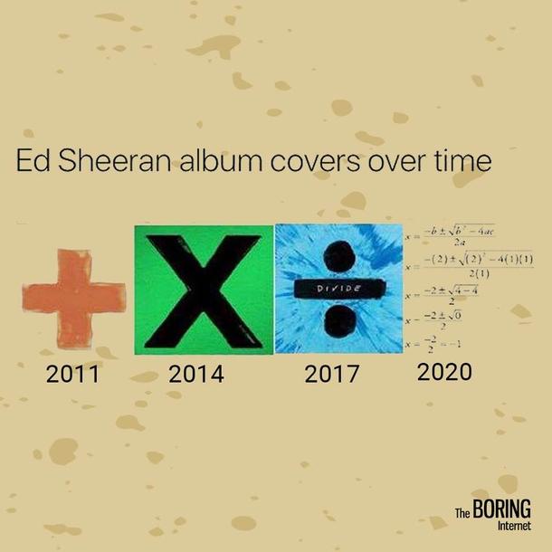 Ed Sheerans New Album 2020 Ed Sheeran is a math guy   Meme Guy