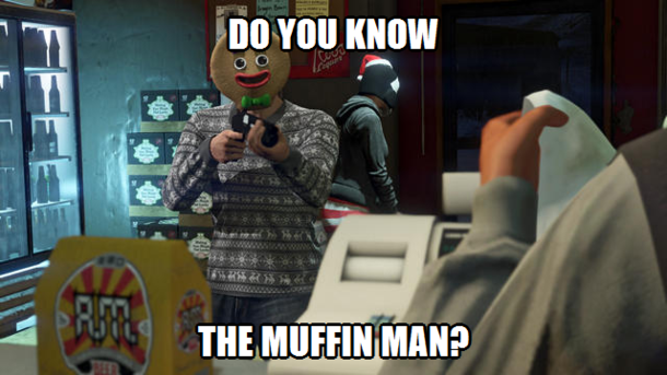 Every Time I See The Gingerbread Mask in GTA
