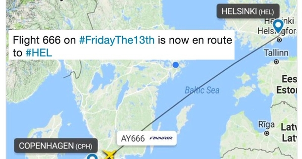 Flight  on Friday th is now going straight to HEL